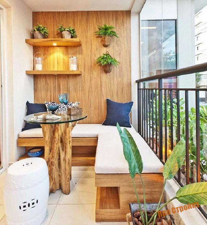 Диван на балконе своими руками (простые идеи и дизайнерские .