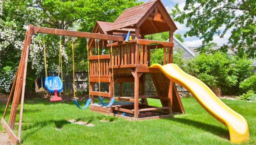 Строим детскую площадку своими руками: 50 оригинальных и 63