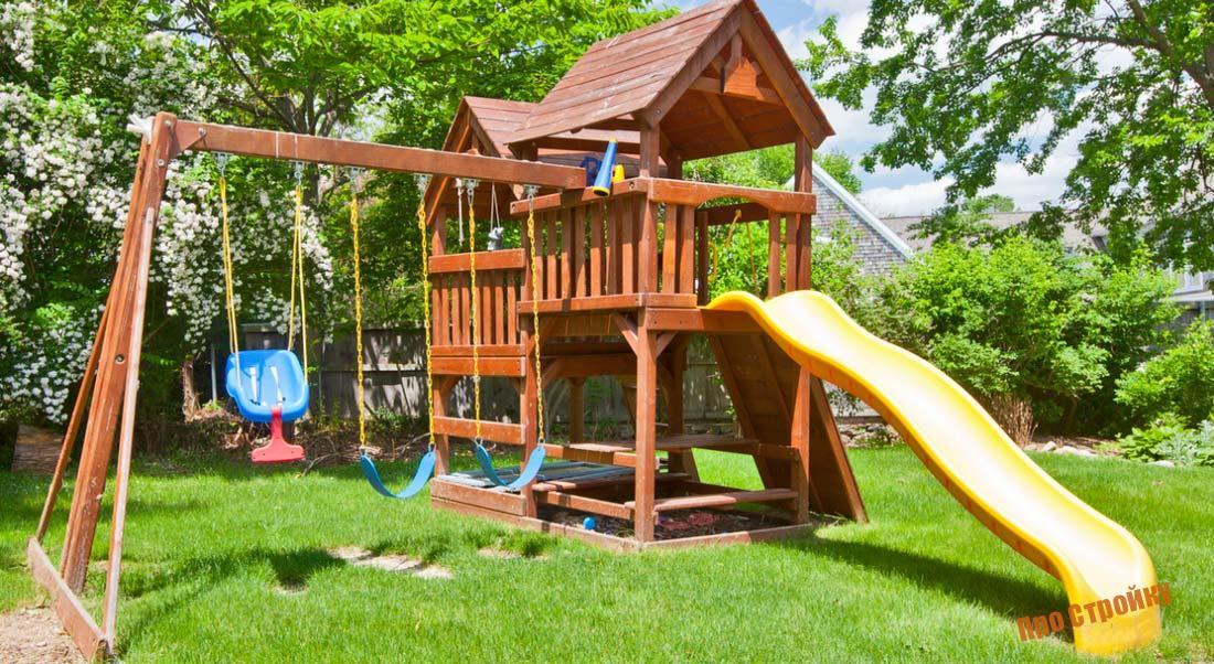 Детская площадка своими руками: пошаговая инструкция от проектирования до постройки детской площадки (155 фото   видео)