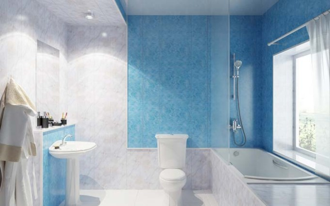 Дизайн отделки ванной панелями пвх