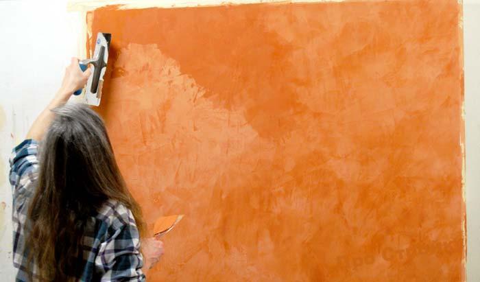 Венецианская штукатурка из шпатлевки своими руками видео